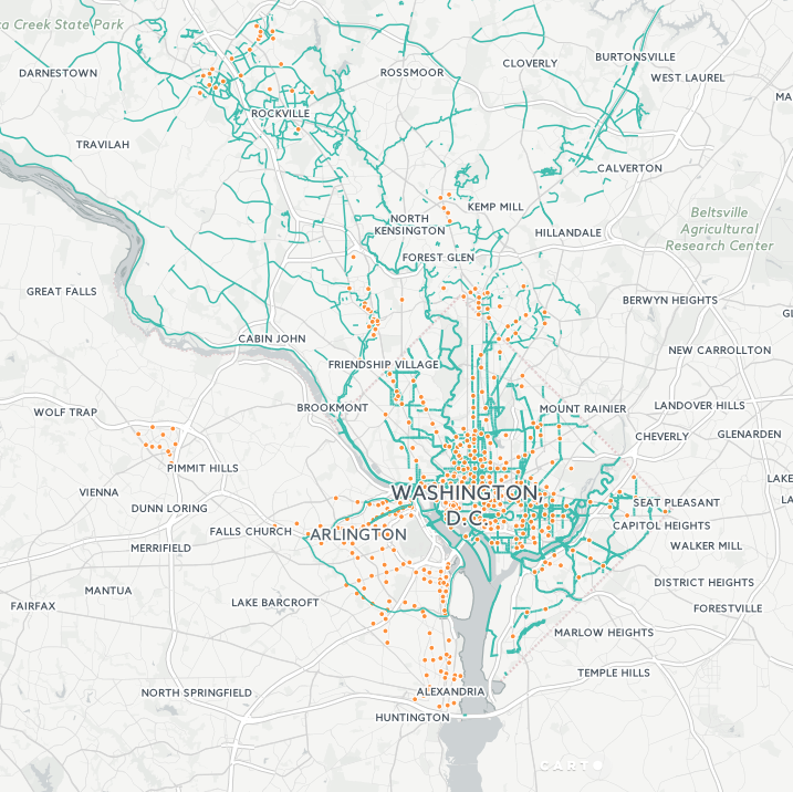 What Bike To Work Day Tells Us About Open Data - Us bike route 1 map
